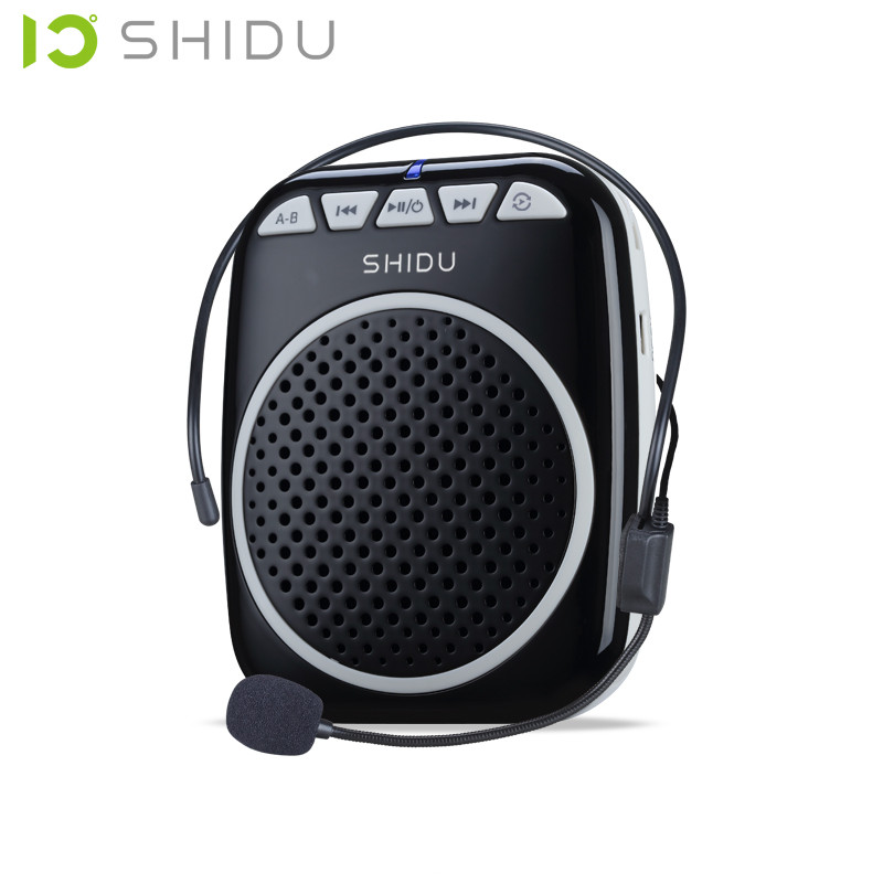 Objective Shidu S308 Teaching Microphone Special Voice Amplifier With Wired Headset Waist Neck Band And Belt Clip Support Mp3 U Disk/tf