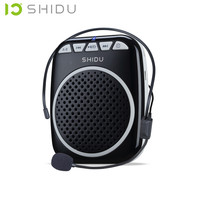 SHIDU S308 Teaching Microphone Special Voice Amplifier with Wired Headset Waist Neck Band and Belt Clip Support MP3 U Disk/TF