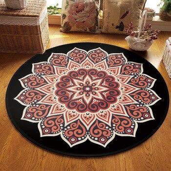 Ulusal tarzı Mandala halı kilim odası dekor oyun alanı halı başucu paspas zemin sandalye minderi yuvarlak halı oturma odası