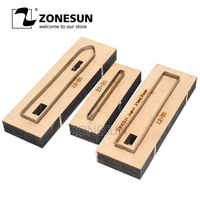 ZONESUN 22 20 Customized leather cutting die Leather DIY Craft supply watchband strap Wooden Template Punch cut steel rule die