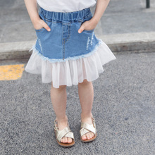 girl jeans skirt Button A Line Skirts Party Slim Jean Princess Pageant Lace Baby Girls Summer baby girl jeans kids clothing fashion cute infant baby girl button a line mini skirts button party slim princess pageant skirt