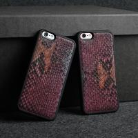 Luxury 3D Natural Python Skin Leather Cell Phone Case For Apple Iphone 6 Plus Snake Genuine
