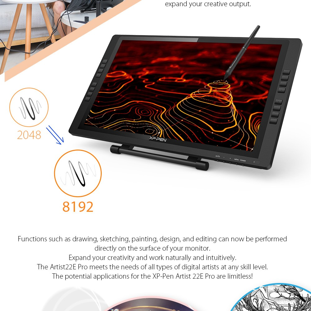 Drawing monitor  tablet 22EPro XP Pen 1 (2)