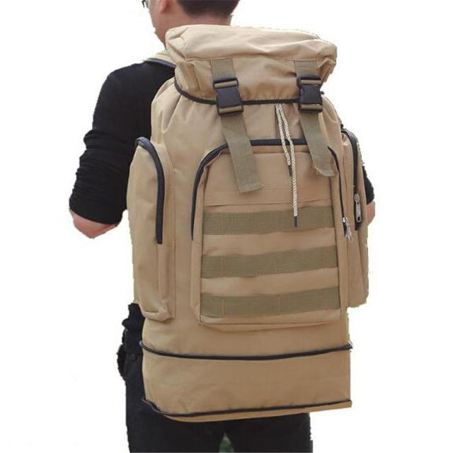 5e7e7e7e2 Large Capacity Canvas Rucksack With Retractable Bottom Fashion Unisex  Backpack Women Men's Travel Bag Student School bag