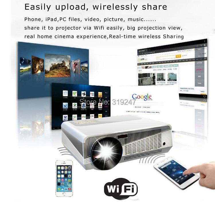 Идеальный светодиодный проектор, встроенный в andorid 4,42 Full HD 5500 люмен с HMDI USB TV проектор для домашнего кинотеатра - 4