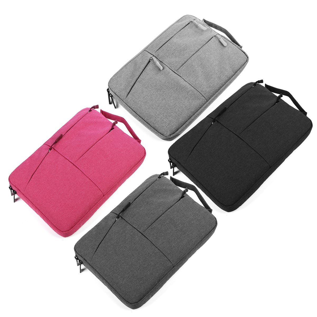 15Inch Waterproof Nylon Laptop Sleeve Laptop Bag Case for MacBook Pro Bag with Zipper for Notebook Air Shockproof Business