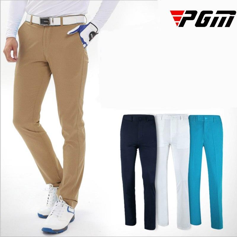 Summer New Brand Mens Golf Pants full length thin light breathable comfort sports leisure trousers Man navy blue khaki M L XL