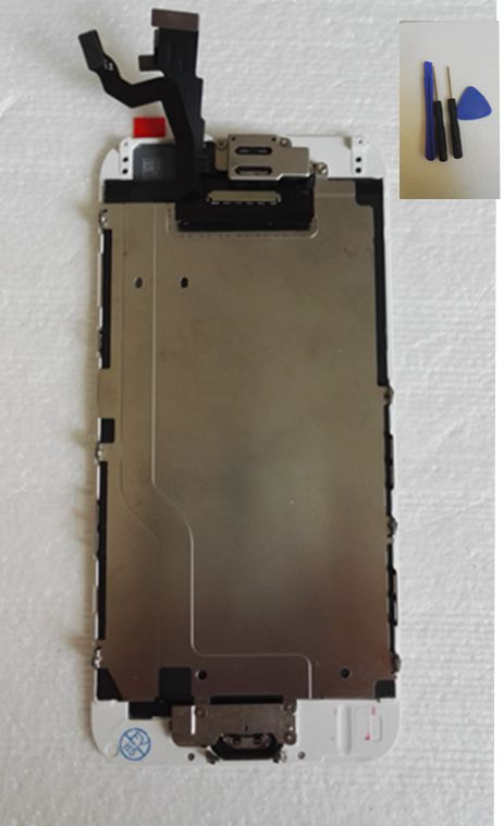 ФОТО Full Set For iphone 6 LCD Screen Display+Touch Glass Digitizer+Home flex cable+Front camera Assembly Repair Parts black/white
