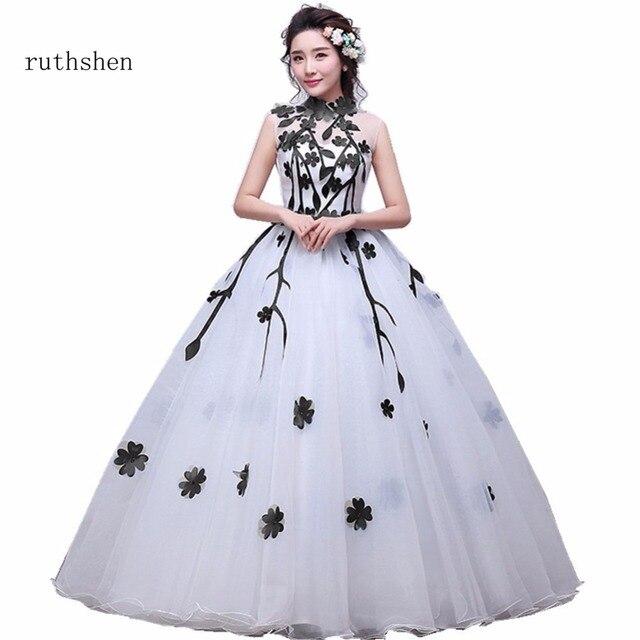 ruthshen Charming IIIusion Debutante Sweet 16 Girls Masquerade Ball Gowns  Organza White Cheap Quinceanera Dresses Sleeveless 38bfeb56b913