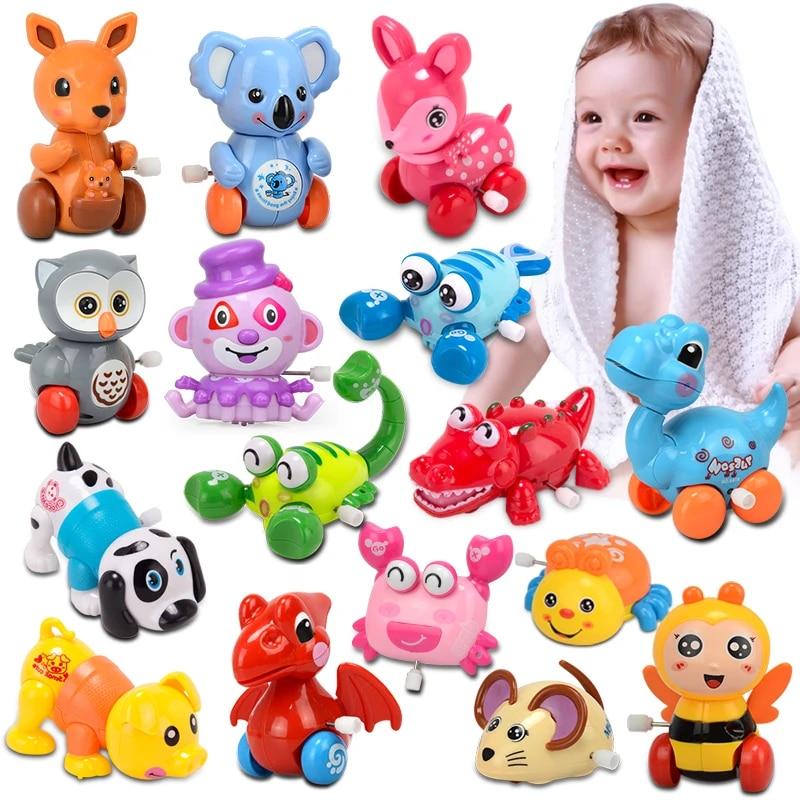 Funny Cartoon Baby Classic Wind Up Toys Running Animal Pet Playing Clockwork