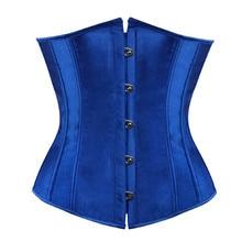 Sapubonva plus size sexy corset underbust bodyshaper costumes corsets bustiers ladies burlesque corselet red blue black pink