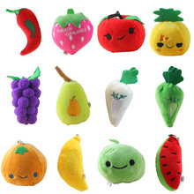 5~13cm Cute All Fruits Vegetables Mini Pendant for baby cradle Best child educational toys Stuffed Plush Toy Dolls(China)