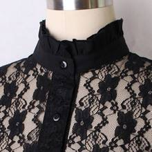 LASPERAL Hot Women Fake Collar Solid Color Pretty Hollow Lace Embroidery Floral Neckline Collar Decoration Collars Accessories