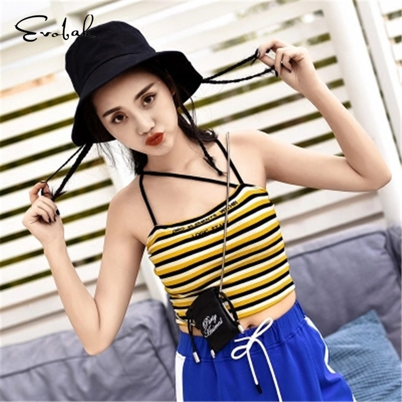 Striped Camis Chiffon Tee Casual Club Slim Crop Tops 2018 Camiseta Tops Women Summer Camis Office Lady Style Blusa Summer Tops