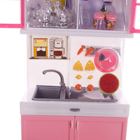 Pretend Kitchen Portable Kitchen Toy Kids Home Plastic Food Cookware Cooking Playset
