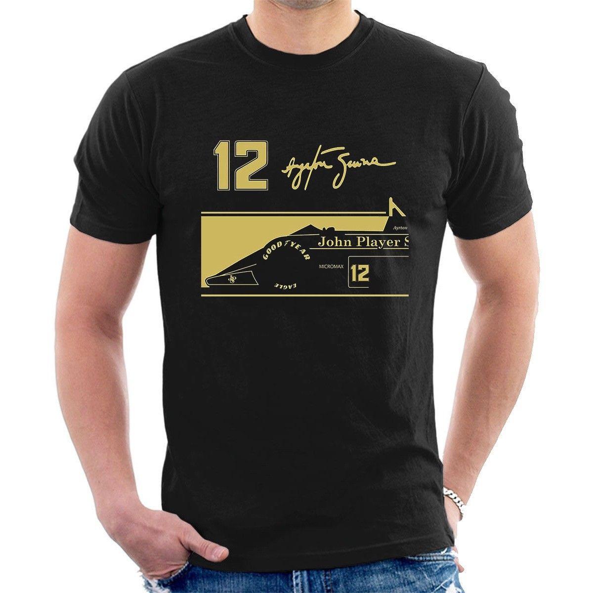 2018 New Fashion Casual Men T Shirt Novelty O-Neck Tops Ayrton Senna Jps Tribute T-Shirt 12 Signature Bulk T Shirts