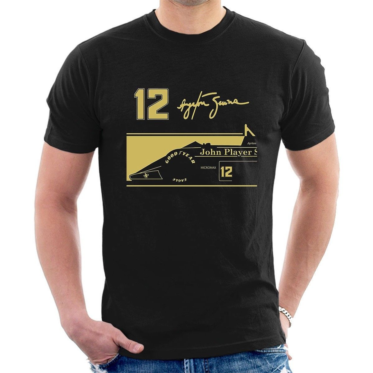 2019 New Fashion Casual Men T Shirt Novelty O-Neck Tops Ayrton Senna Jps Tribute T-Shirt 12 Signature Bulk T Shirts