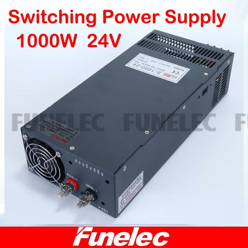 цена на Universal 24V 41.7A 1000W Regulated Switching Power Supply Transformer 110V 220V AC to DC For LED Strip Light Lighting CNC CCTV