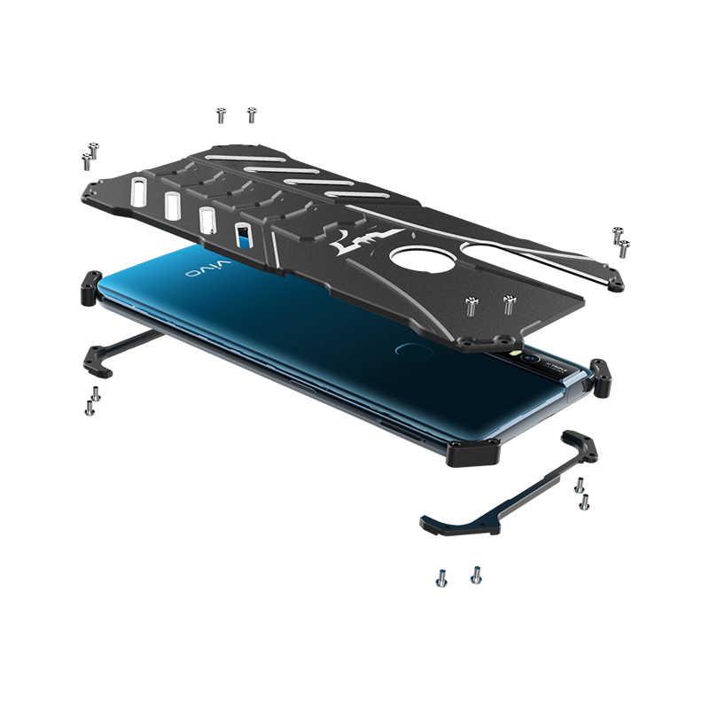 Роскошная алюминиевая металлическая крышка для VIVO S1/S1 Pro Coque, ультра тонкая жесткая Противоударная задняя крышка для VIVO S1 Pro, чехол для телефона, сумка