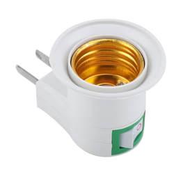 1 шт. E27 основание светильника ЕС Plug стены винт база свет лампа гнездо держатель адаптер конвертер 220 В с включения/выключения