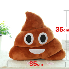 цена на Soft Toys Pillows Poop Toys Brown Smiley Poo Pillows Poop 35cm Emoji Cushion Soft Hot Sale Cute Cushions Stuffed Plush Toy Soft
