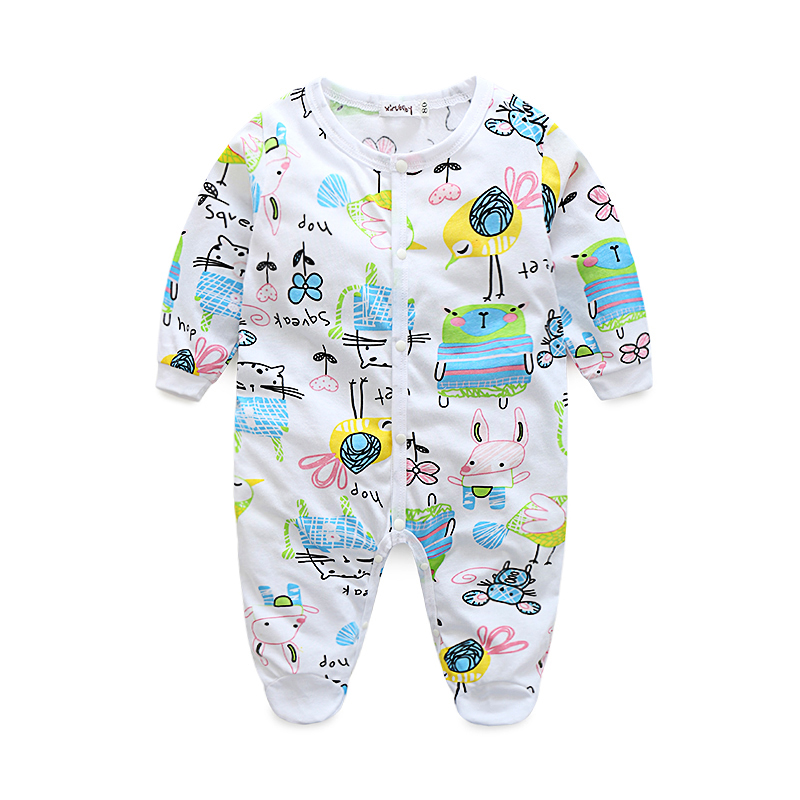 2016 new baby girl clothes , soft fleece kids one pieces Jumpsuits Pajamas newborn infant girl boys clothes baby costumes bebes ...