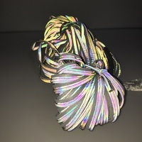 Borda reflexiva fantasma tira iridescência reflexiva guarnição do vestuário