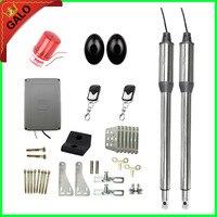 Galo Automatic Gate Opener swing Dual Swing Gate Motor Kit Gate Motors 1 pair of Infrared beam1 flash lamp