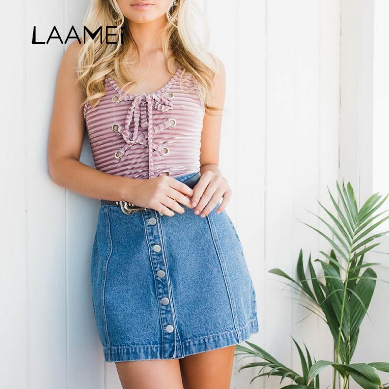 Laamei Bohemian Bodysuit Women 2018 Fashion Lace-up Jumpsuits Brand O-Neck Tank Rompers Womens Jumpsuit Solid Body Feminino