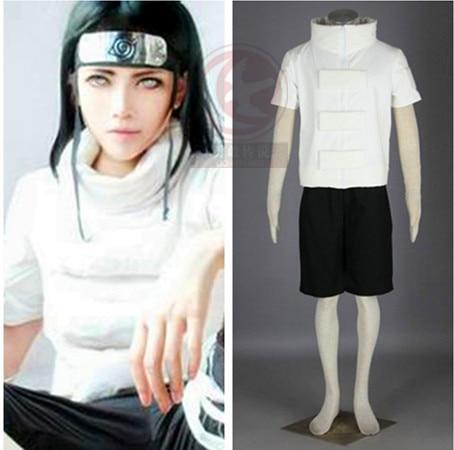 New Anime Naruto Hyuuga Neji Halloween Cosplay Costume