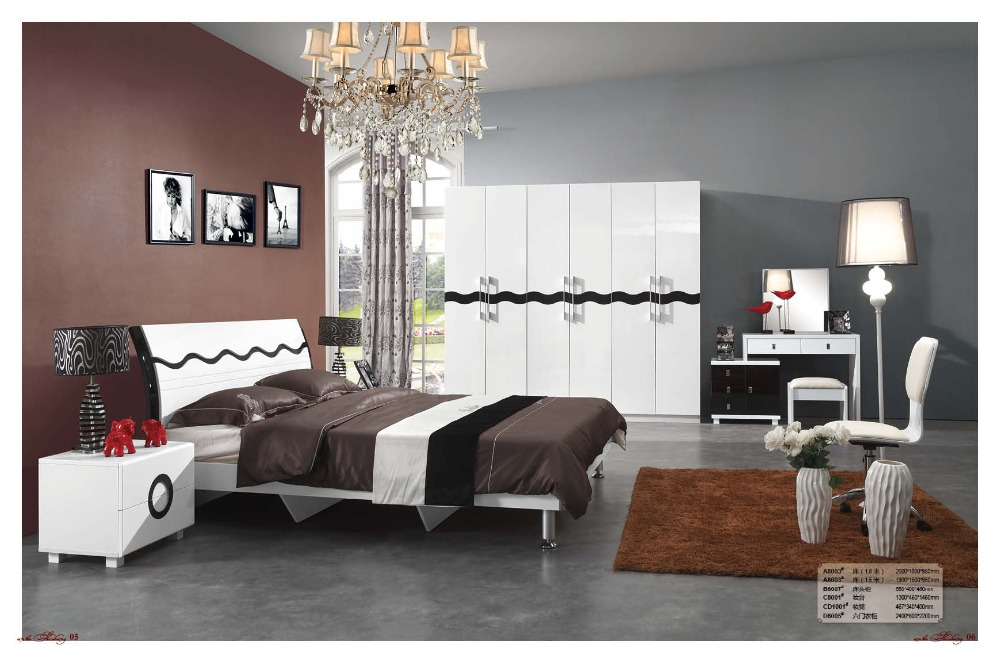 2018 modern real furniture table de maquillage bedroom set wooden bed furniture hot sell bed of for Places that sell bedroom furniture