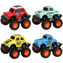 Happy Monkey Big Foot Toy Car Metal Alloy Diecast Mini Pull Back Shatterproof Graffiti Vehicle Gift For Children Birthday