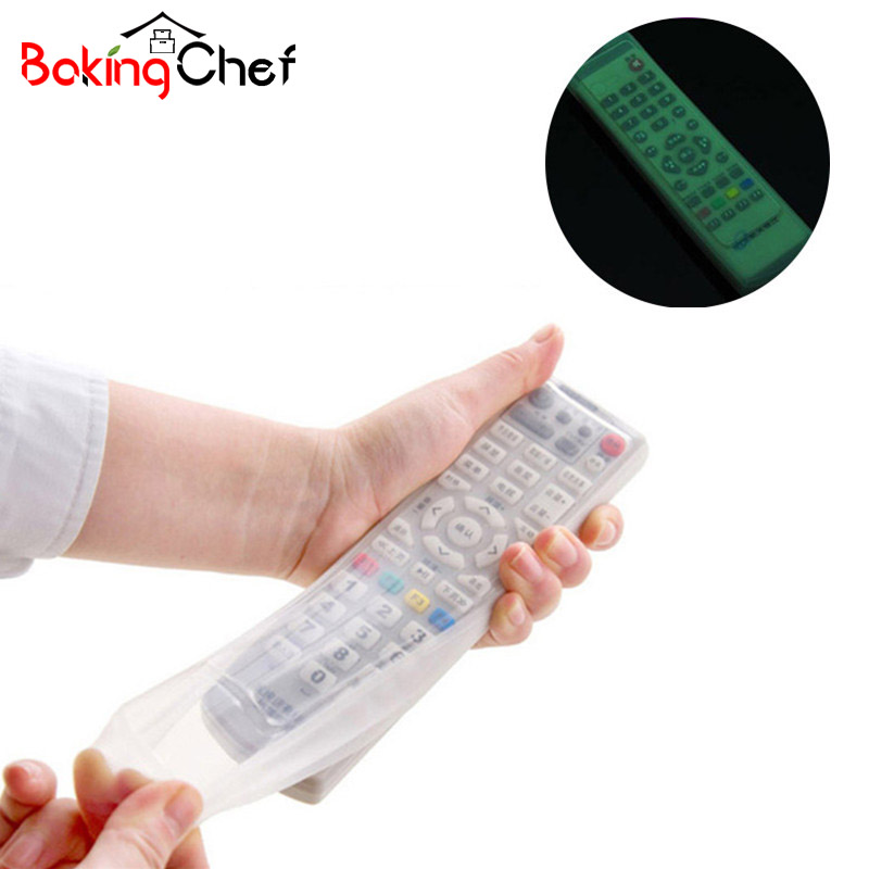 Waterproof TV Remote Control Fluorescent Dust cover