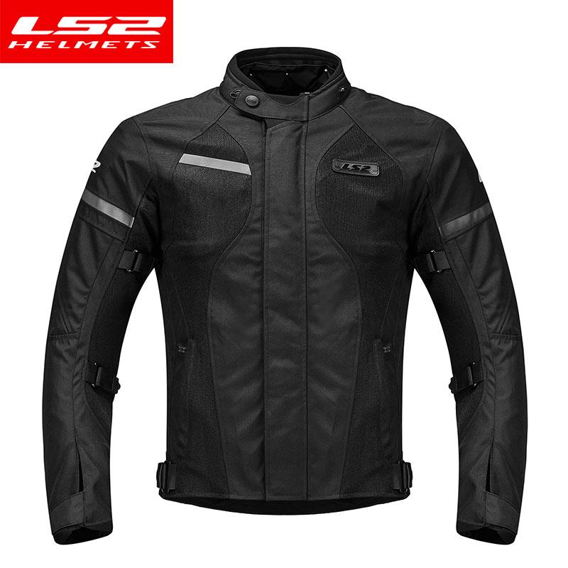 LS2 hommes Moto veste Moto pantalon ensemble printemps hiver respirant veste chaude Moto pantalon costume vêtements de protection - 2