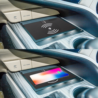 Car QI Wireless Charger Console Fast Charging Case Car Phone Holder Panel for Toyota for Camry 8th 2018 for iPhone 8 X XS
