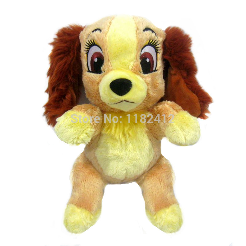 270ab73f5ca5 Lady and the Tramp Lady Dog Plush Toy 30cm 12'' Cute Brown Puppy Stuffed  Animals Baby Kids Toys for Children Gifts-in Stuffed & Plush Animals from  Toys ...