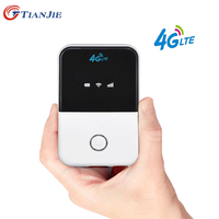 TIANJIE 150Mbps 3G/4G LTE wifi router CAT4 pocket mobile Broadband hotspot Wireless wifi router modem with sim card slot