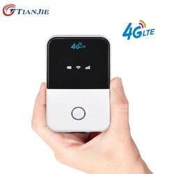 Tianjie 150 mbps 3g/4g lte wifi roteador cat4 bolso móvel de banda larga hotspot roteador wi-fi sem fio modem com slot para cartão sim