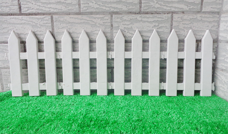 10PcsLot White Fence Plastic Garden Fencing sharp corner Small