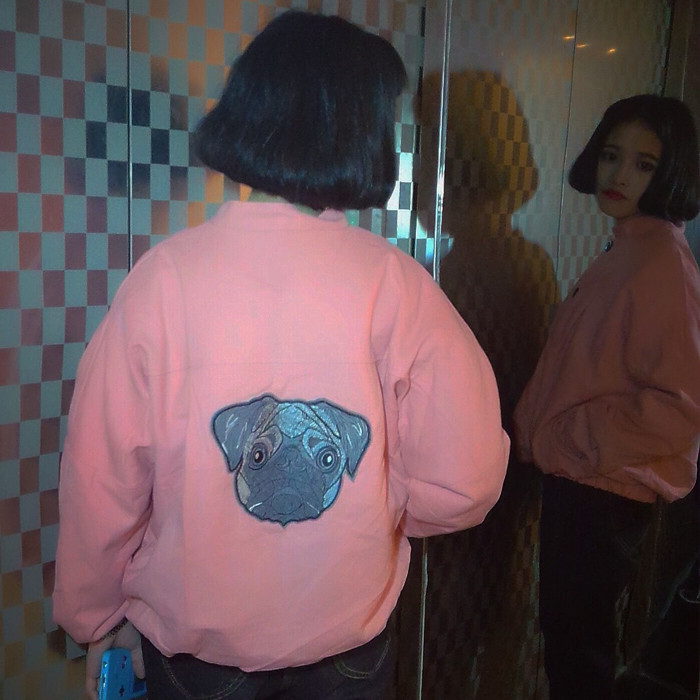 Primavera Mujer Bomber Bomber Jacket Coat 2017 de Corea Ulzzang Harajuku BF Parc