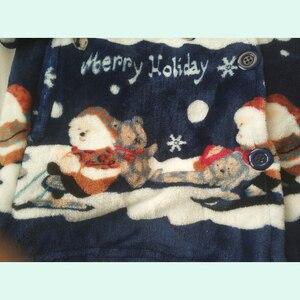 Image 5 - חג המולד פיג נשים חורף/סתיו פיג מה סט ארוך מעיל צפצף פלנל רופף גודל סקסי בית חם 2019 הלבשת 2 יחידות\סט