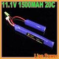 Free shipping Lion Power GE Power RC Lipo battery 11.1V 1500MAH 20C 2 cell AKKU Mini Airsoft Gun Battery RC model 40C