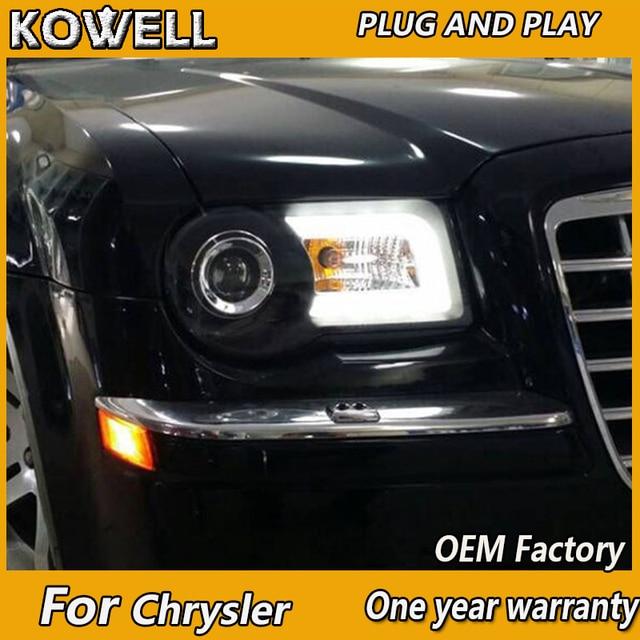 Kowell Car Styling Head Lamp For Chrysler 300c Led Headlights 05 12 Drl H7 Hid Bi Xenon Lens Angel Eye Low Beam