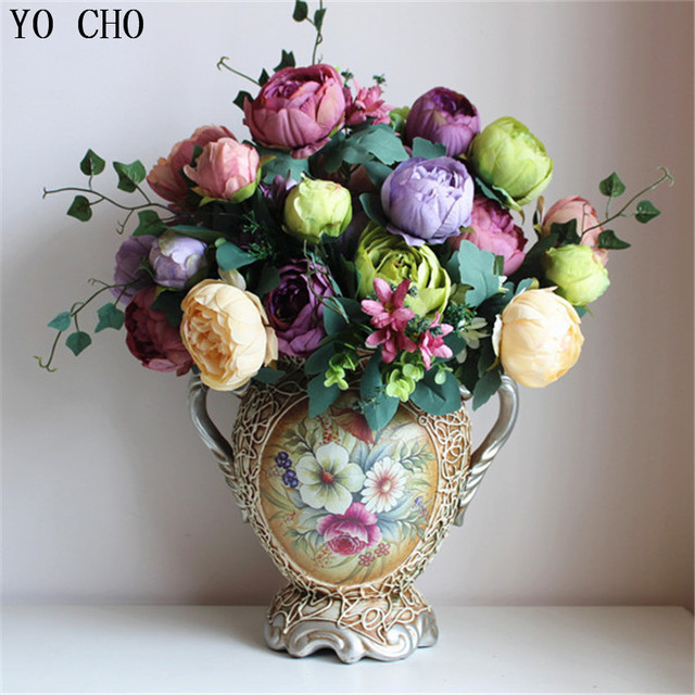 12 flower headsfree shipping european1 bouquet wholesale cheap silk 12 flower headsfree shipping european1 bouquet wholesale cheap silk peony articial flower make mightylinksfo