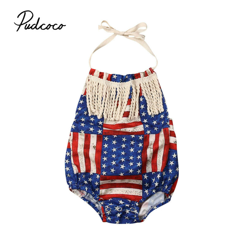 Baby   Rompers   2019 Sleeveless Cotton Newborn clothes Roupas de bebe boys girls jumpsuit clothing US Tassel Decor 0-18 Months