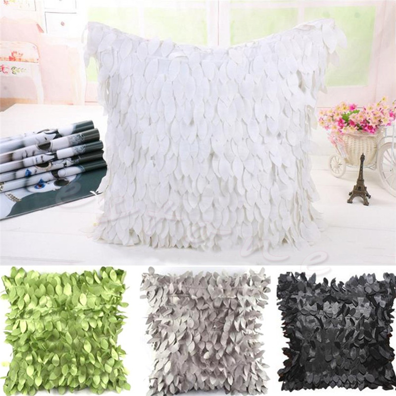 Fallen Leaves Feather Pillow Case Couch Cushion Cover Home Decor Sofa Throw JJ2834