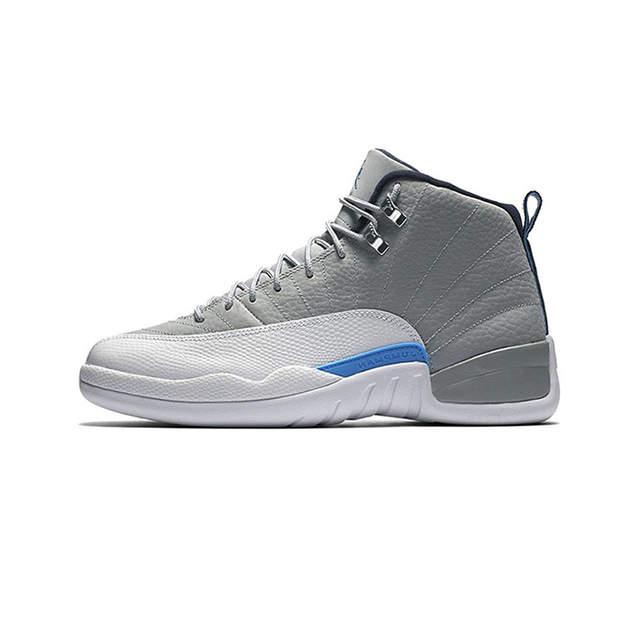 designer fashion 33b25 44d15 Jordan Retro 12 Gym red Basketball shoes Bulls Michigan University blue  College ovo white Dark Grey men Sport Sneakers