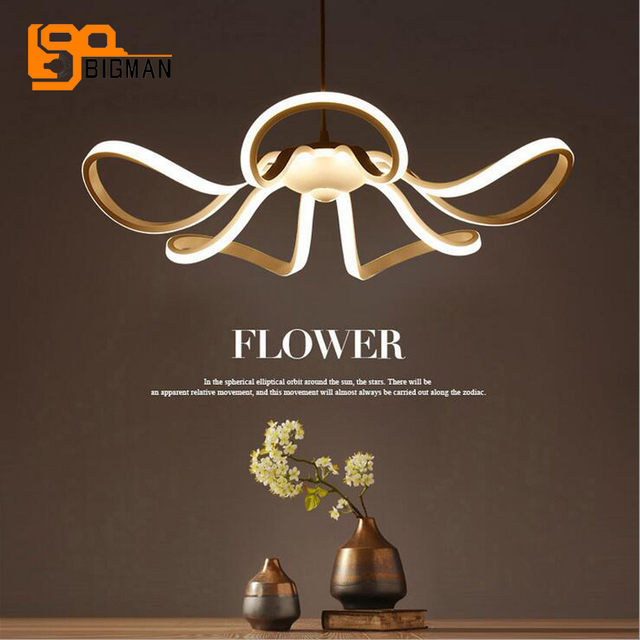 New Flower Design LED Chandeliers Hanging Lampen Kronleuchter Modern  Dinning Room Chandelier Bar Light Diameter 55cm