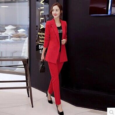 Pant Suits Women Business Formal Office Uniform Style New 2016 White Elegant Womens Suits Blazer ...