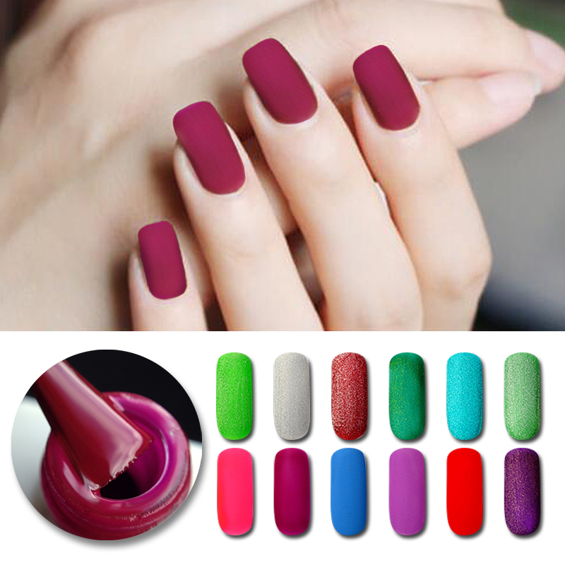 BORN ABBASTANZA 5 ML Opaca Top Coat Soak off Gel Polish Smalto Opaco Nail Gel UV Lacca Manicure Nail Art Decorazione 29 Colori
